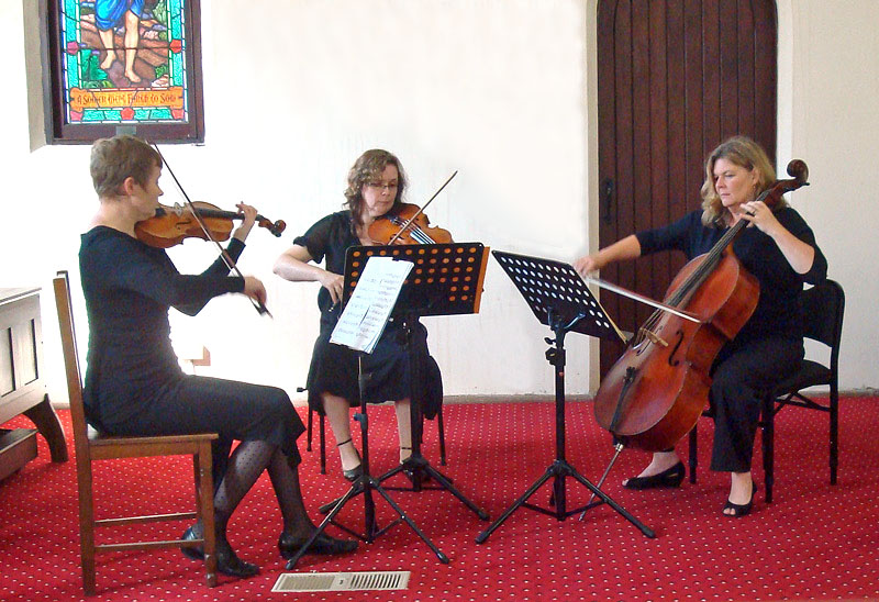 The trio in action at the Blackheath performance 24 March 2013